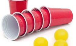 100 Stück Rote Partybecher Red Cups