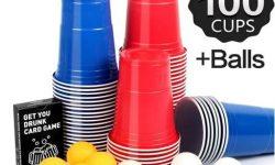 Beer Pong Becher, Partybecher Trinkspiel set