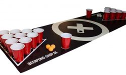 Bier Pong Tisch Matten Set Audio Design