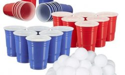 Relaxdays 148 TLG. Beer Pong Set